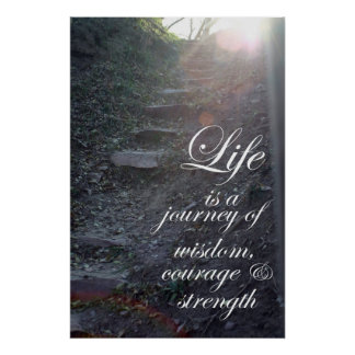 Life is a Journey quote Inspirational gifts art Poster
