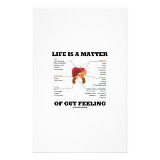 Life Is A Matter Of Gut Feeling Anatomical Humor Personalized Stationery