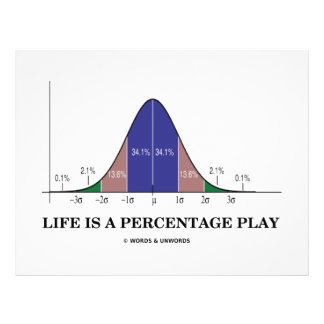 Life Is A Percentage Play (Statistics Humor) Flyers