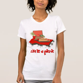 Life is a Picnic... for Ants Ladies Petite Tshirt