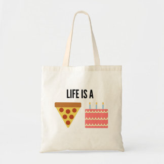Life is a Pizza Cake tote bag