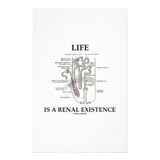 Life Is A Renal Existence (Kidney Nephron) Custom Stationery