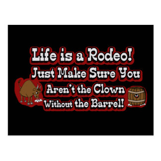 Life is a Rodeo Post Cards