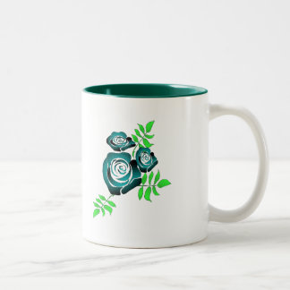 Life is a rose Two-Tone coffee mug