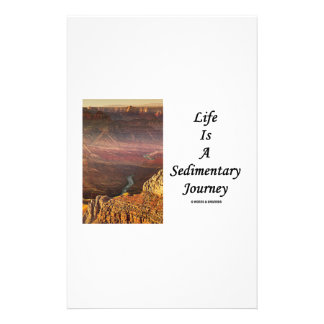 Life Is A Sedimentary Journey (Grand Canyon) Customized Stationery