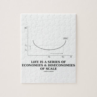Life Is A Series Of Economies & Diseconomies Scale Jigsaw Puzzle