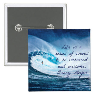 Life is a series of waves 15 cm square badge