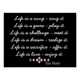 Life is a song - Poster Print