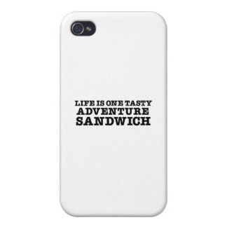 Life Is A Tasty Adventure Sandwich iPhone 4/4S Cases