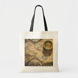 life is a trip...through time! tote bag