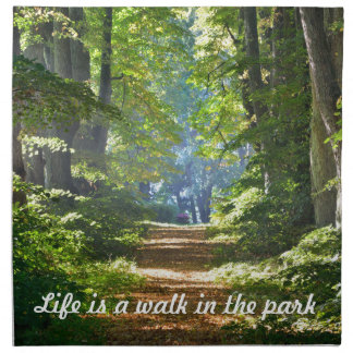 Life is a walk in the park 4 Napkins
