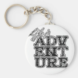 life is adventure key ring