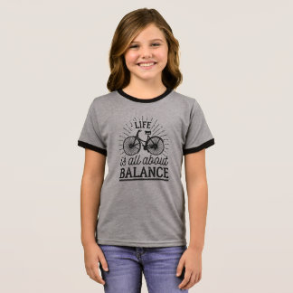 Life is all About Balance Quote | Ringer Shirt