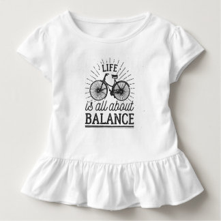 Life is all About Balance Quote | Ruffle Tee