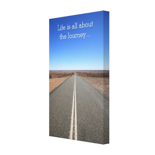 Life is all about the Journey Motivational Canvas Gallery Wrapped Canvas
