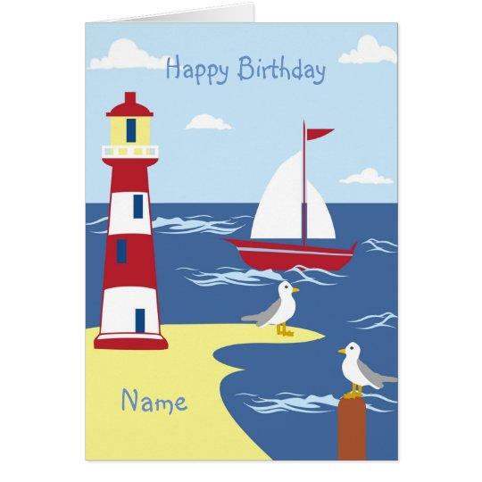 Life Is An Adventure Nautical BOY Godson Gift