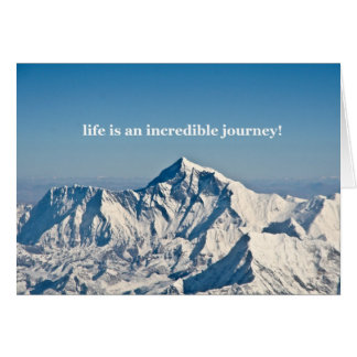 life is an incredible journey greeting card