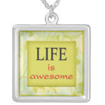 Life Is Awesome - 3 Word Quote Necklace
