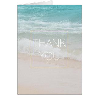 Life is Beautiful Aqua Beach Thank you Card