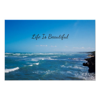 Life Is Beautiful | Caribbean Seascape Poster