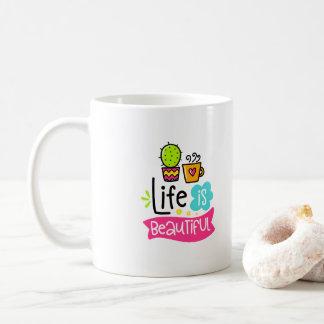 Life is Beautiful Custom Designer Coffee Mug
