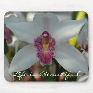 Life is Beautiful Floral Mousepad