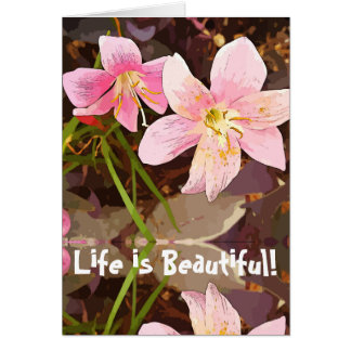 Life Is Beautiful greeting card w/quote Be Kind