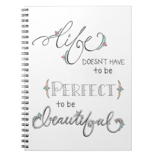 life is beautiful - hand drawn illustration doodle note book