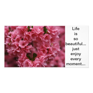 life is beautiful photo card template