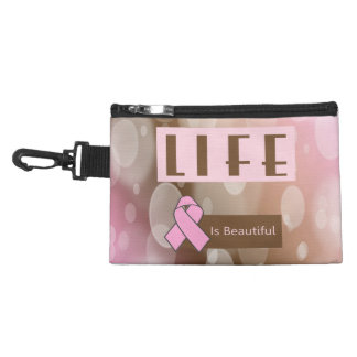 Life Is Beautiiful, Breast Cancer Survivor Accessories Bags