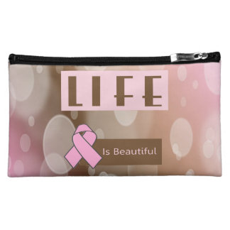 Life Is Beautiiful, Breast Cancer Survivor Cosmetic Bag