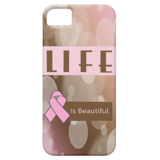 Life Is Beautiiful, Breast Cancer Survivor iPhone 5 Covers