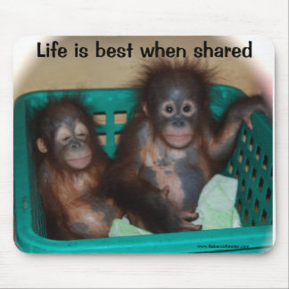 Life is Best when shared Love Mouse Mat