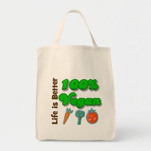 Life is Better 100 Percent Vegan Tote Bag