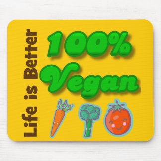 Life is Better 100 Percent Vegan Mouse Pad