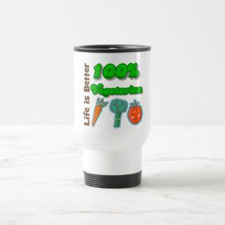 Life is Better 100 Percent Vegetarian Coffee Mugs