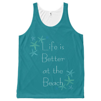 Life is Better at the Beach All-Over Print Tank Top