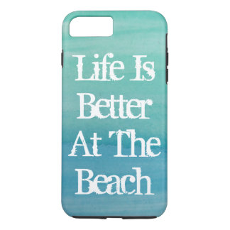Life is better at the beach cute quote iPhone 8 plus/7 plus case