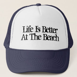 Life is better at the beach funny retirement hats