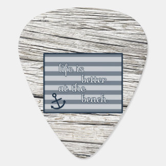 Life is Better at the Beach Plectrum