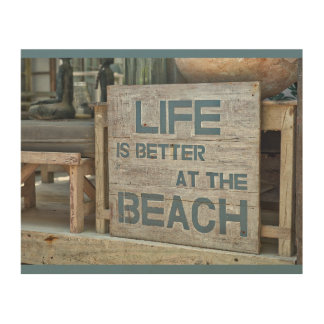Life is Better at the Beach Wood Wall Plaque Wood Wall Art
