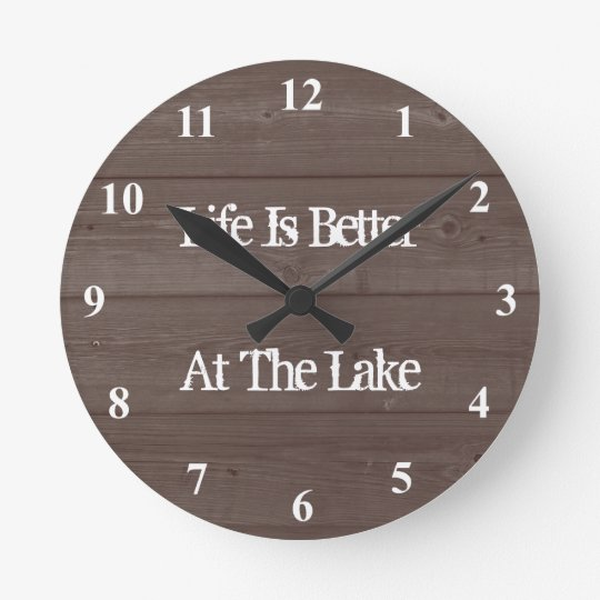 Life is better at the lake wood grain