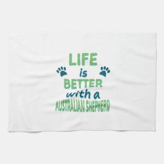 Life is Better Australian Shepherd Kitchen Towels