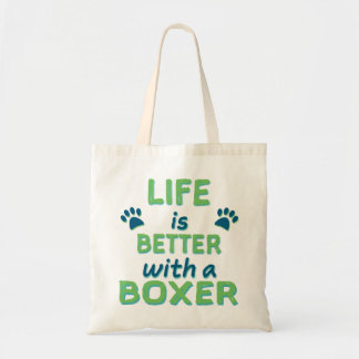 Life is Better Boxer Tote Bag