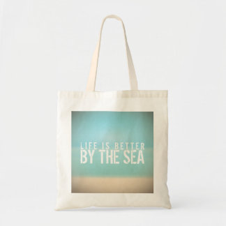 Life is Better by the Sea Beach Landscape Tote Bag