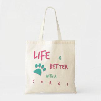 Life is Better Corgi Tote Bag