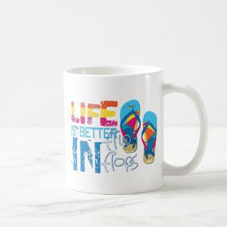 Life is better in flip flips basic white mug