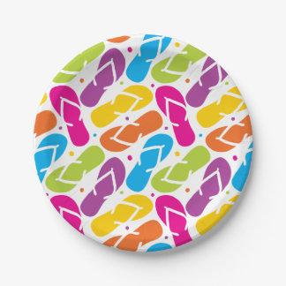 Life is Better in Flip Flops Pattern 7 Inch Paper Plate