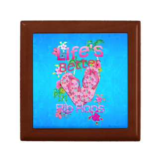 Life Is Better In Flip Flops Small Square Gift Box