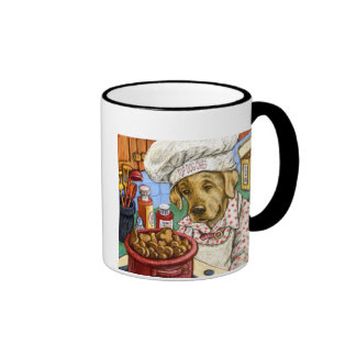 """""""Life is Better in the Kitchen"""" Yellow Lab Cooking Mug"""